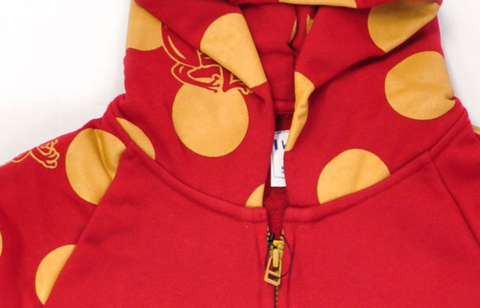 I・L・E ZIP PARKA〈DOT〉RED