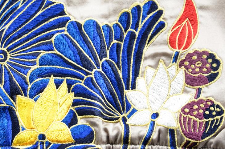 スーベニアジャケット_ベージュ 極楽浄土刺繍