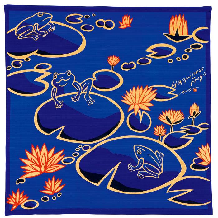 風呂敷/Hppiness Frogs/BLUE