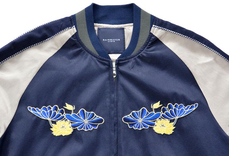 スーベニアジャケット_ネイビー 胸元刺繍