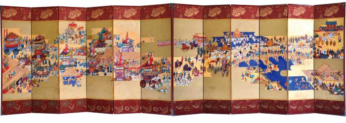 祇園祭絵図屏風