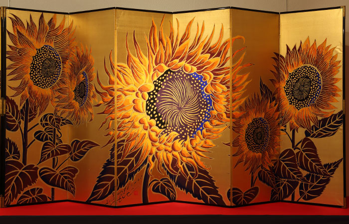 Sunflower屏風