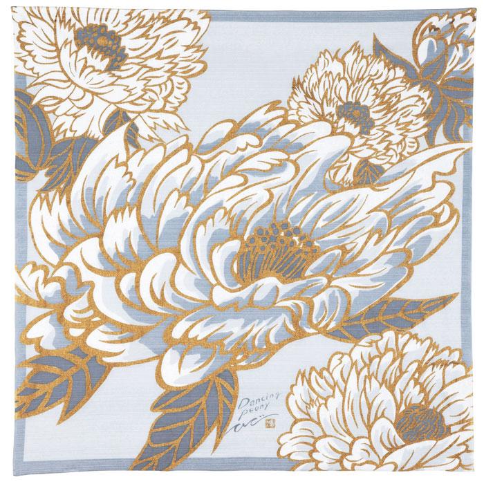 風呂敷/牡丹/ホワイト