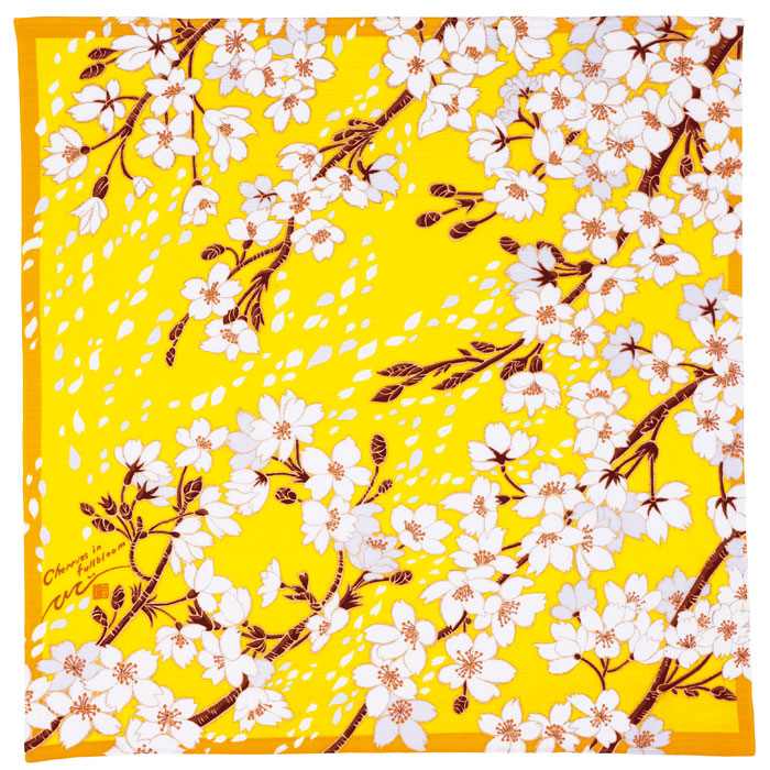 風呂敷/桜/YELLOW